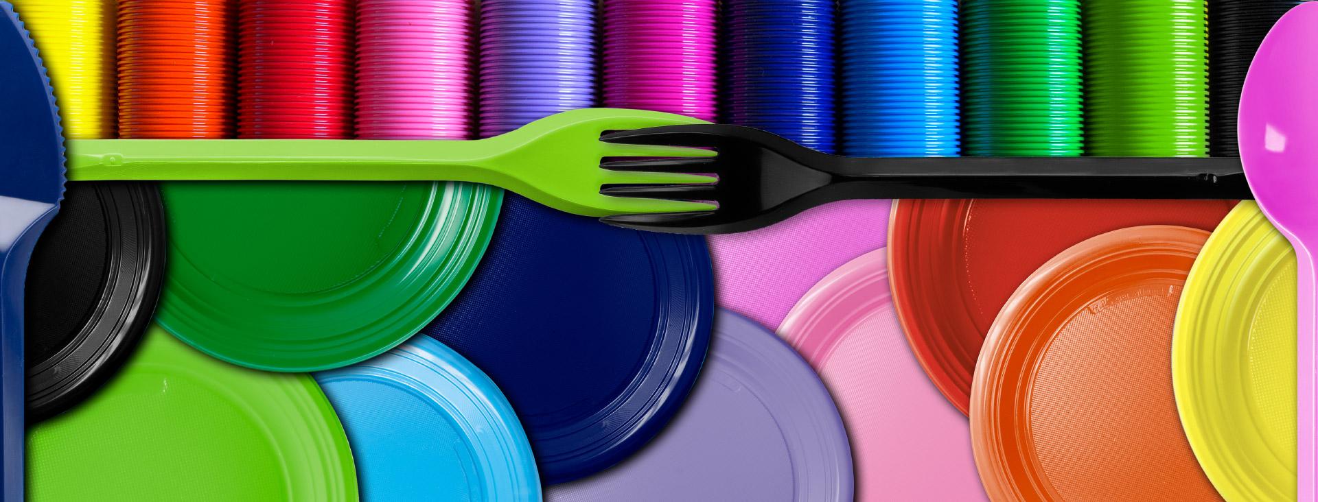 Forchette blu fiesta plastica aristea spa for Piatti e bicchieri colorati
